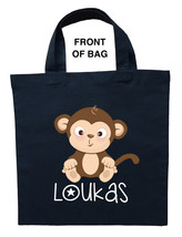 Monkey Trick or Treat Bag, Personalized Monkey Halloween Bag, Monkey Loo... - $11.99+
