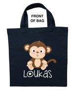Monkey Trick or Treat Bag, Personalized Monkey Halloween Bag, Monkey Loo... - $11.39+