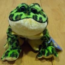 "Ganz Webkinz Green Spotted Bullfrog Frog 6"" Stuffed Animal New - $15.35"