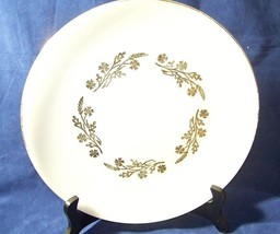 FEDERAL GLASS MEAOW GOLD SERVING PLATTER ~ 11'' - $5.99