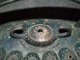 Bronze Hanukkah Oil lamp Menorah Israel Nathan Schlagmann Shlagman Marked Signed image 5