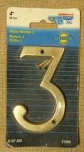 National N197-806 V1900 House Number 3 Solid Br... - $6.74