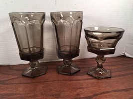 Fostoria Virginia Brown 3 Iced Tea And 1 Champagne Tall Sherbet  Glasses - $20.00