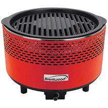 Brentwood  BBF-21R  Non-Stick  Smokeless  Portable  BBQ,  Red - $108.23