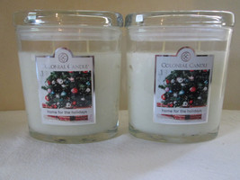 2 Colonial Candle~ HOME for the HOLIDAYS ~ 8oz Oval Jar Candles, 2 wicks - $32.00