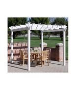 gazebo outdoor 7 x 7 Vinyl Pergola patio outdoor furniture new shade garden - $643.49