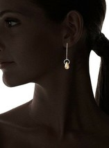 Cristina V USA Made 18K Yellow Gold-Plated Simple Single Briolette Drop Earrings image 2