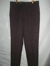 Mens Size 36 x 31 Saks Fifth Avenue Brown Wool Pants Slacks - $24.74