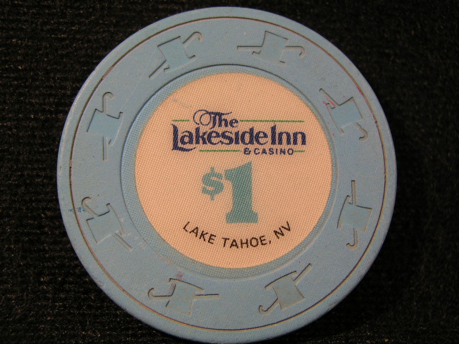 "Primary image for $1.00 CASINO CHIP FROM:  ""LAKESIDE INN & CASINO"" - (sku# 2536)"