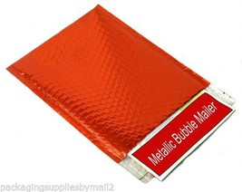 "Metallic Glamour Bubble Mailers Shipping Envelope Bags 13.75"" x 11"" Red ... - $397.78"