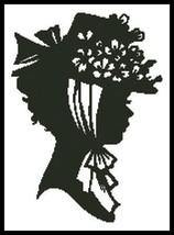 Lady Silouette 2 cross stitch chart Artecy Cross Stitch Chart - $7.20
