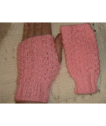 hand knitted wrist warmer fingerless gloves in ... - $10.00