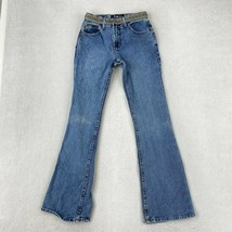 LEI Jeans Juniors Size 1 Blue Flare Leg Mid Rise Pants - $18.95