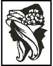 Lady Silouette cross stitch chart Artecy Cross Stitch Chart - $7.20