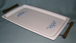 Vintage Corning Ware BLUE CORNFLOWER BAKE BROIL SERVING TRAY P-35-B With... - $28.95