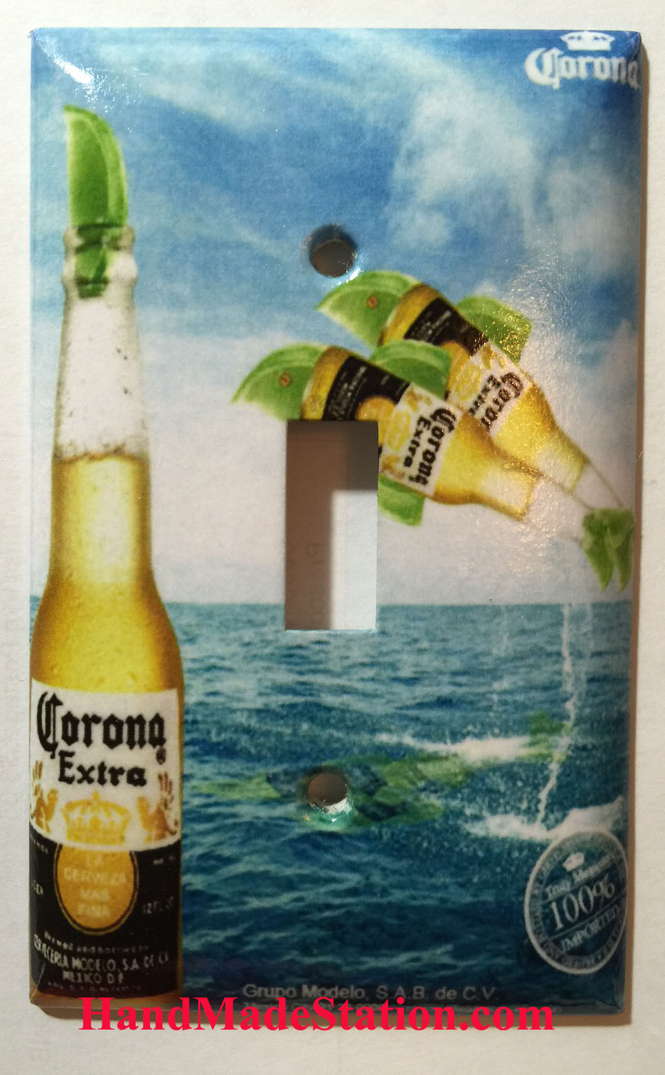 Corona bottle sign single toggle