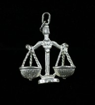 "Vintage .925 Sterling Silver 5.8g "" LIBRA "" Detailed Zodiac Symbol Sign ... - $14.34"