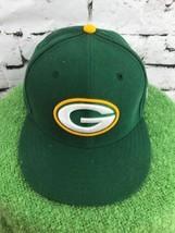Green Bay Packers Boys Sz 6 5/8 Hat Classic NFL New Era 59Fifty Baseball... - $14.84