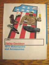 1972 Harley-Davidson Motorcycle Accessory Accessories Brochure, w/ Insert, 38 pp - $63.11