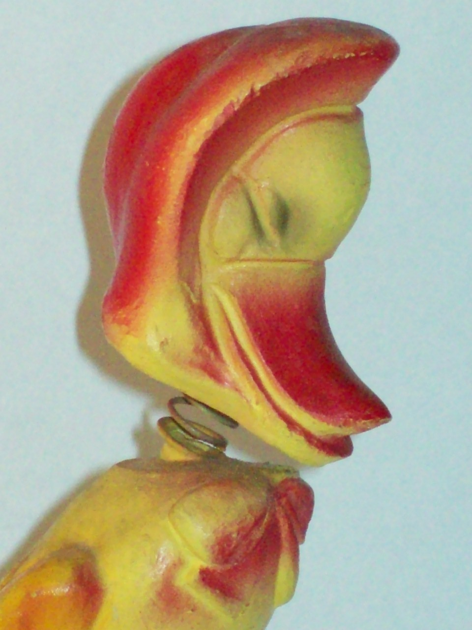 Vintage Chalkware Easter Duck Nodder Bobblehead