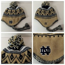 Notre Dame Adidas Pom Winter Hat One Size Fits All Embroidered ND Logo - $13.85