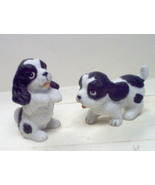 HOMCO'ENGLISH BLK &WHITE' DOGS - $8.50