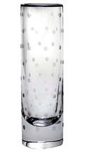 """Kate Spade Lenox LARABEE DOT Cylinder BUD VASE Crystal 7.5"""" Etched Dots New - $72.90"""