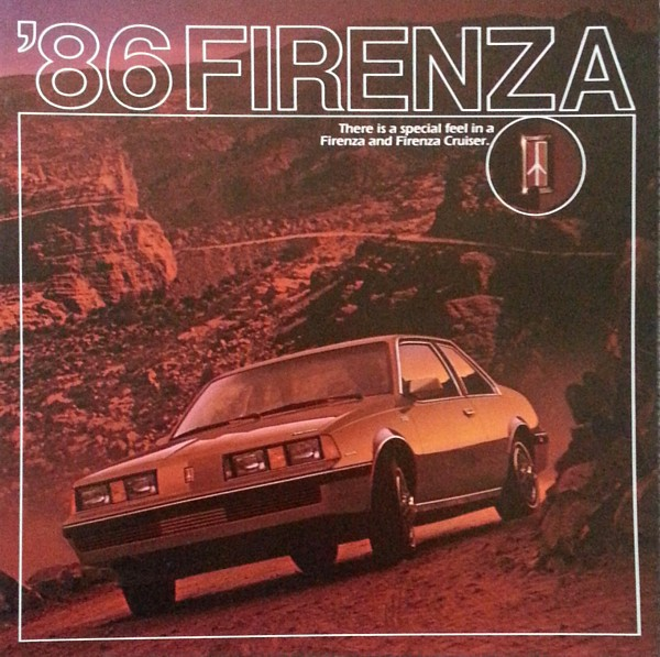 Primary image for 1986 Oldsmobile FIRENZA sales brochure catalog US 86 CRUISER