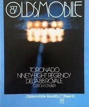 1987 Oldsmobile TORONADO NINETY-EIGHT DELTA 88 brochure catalog US 87 - $8.00