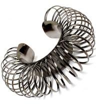 Circle Ring Bracelet Chunky Hematite Gunmetal Cuff Bangle Avant Garde St... - $16.99