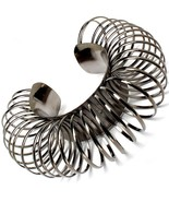 Circle Ring Bracelet Chunky Hematite Gunmetal Cuff Bangle Avant Garde St... - $16.99