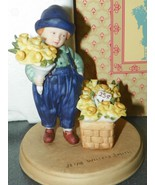 AVON JESSIE WILLCOX SMITH COLLECTIBLE FIGURINE SPRINGTIME SELLING FLOWERS EIB - $9.89