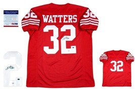 Ricky Watters Autographed SIGNED Jersey - PSA/DNA Authentic - Red - $108.89