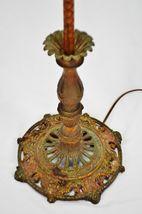 Vintage Art Deco Metal Floor Lamp with Dual Fixture image 8