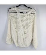 Line & Dot Women's Sweater L Large Chunky Knit White Ivory New Posy Swea... - $44.55