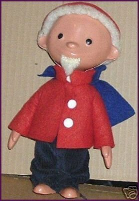 Vintage Unusual RUBBER Man Doll Jon Blund (?) w/Beard