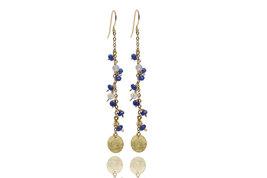 Gold earrings,opal earrings,coin earrings,gemstone earrings,gold dangle ... - $64.00+