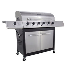 Stainless CharBroil 6 Burner Gas Grill Side Burner BBQ Food Party Outdoo... - £392.86 GBP