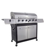 Stainless Steel CharBroil 6 Burner Gas Grill Side Burner BBQ Food Party ... - $472.99