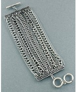 Multi Chains Bracelet Oxidized Antique Silver C... - $23.99