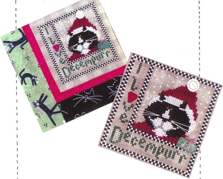 Primary image for I Love Decempurr cat cross stitch chart Val's Stitchin Stuff