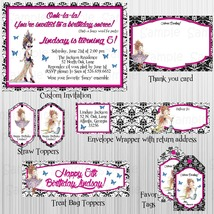 Fancy Nancy Birthday Complete Party Package: Custom. Personalized, Invit... - £24.91 GBP