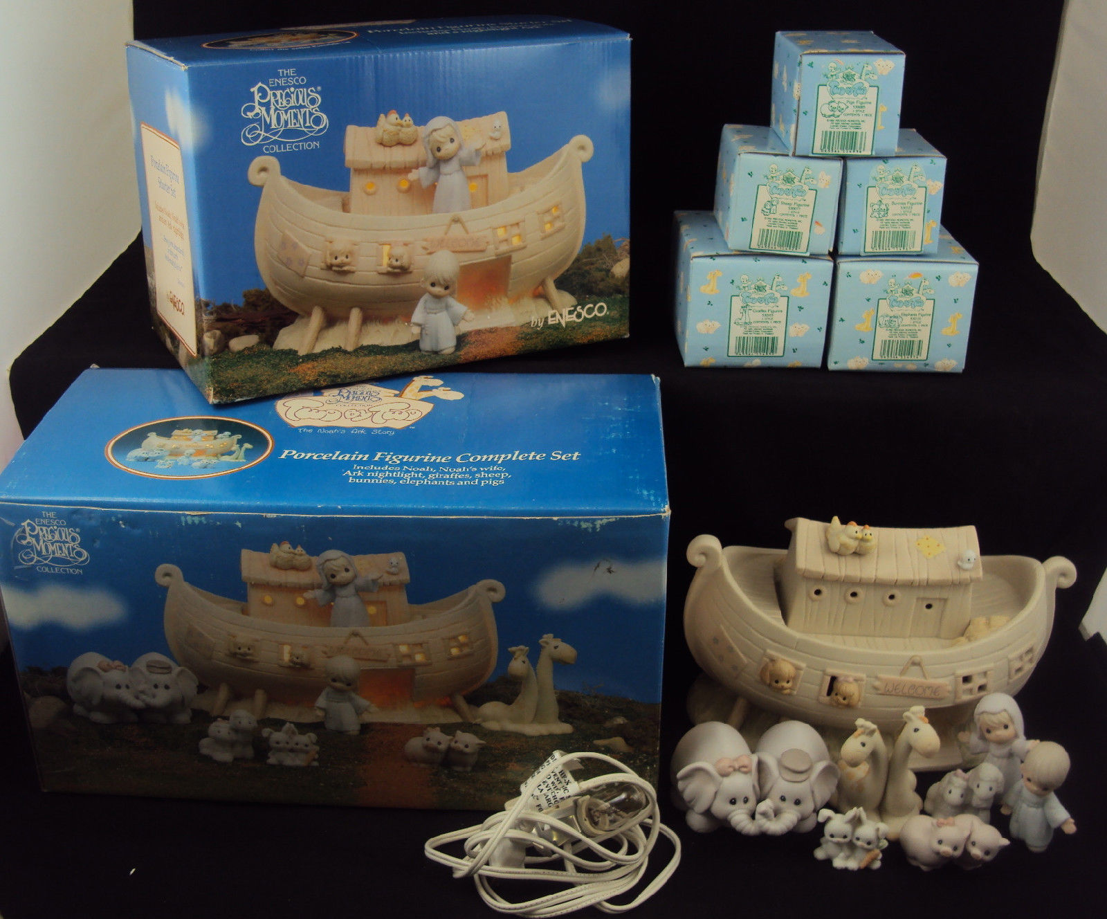 Primary image for Precious Moments NIGHT LIGHT ~ Noah's Ark Two-by-Two ~ Complete Set w/Boxes
