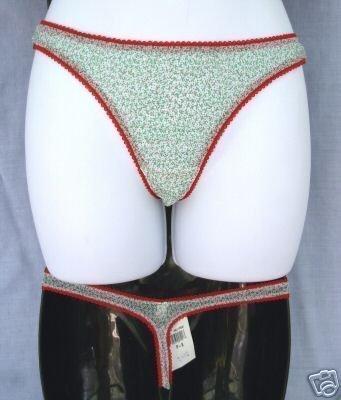 new lot 2 UNDERGLAM sz M/L Thong Panties sheer mesh panty holly M holiday L USA
