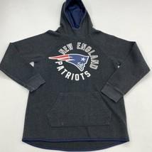 NFL Hoodie Mens M Gray Turtleneck New England Patriots Football Kangaroo Pockets - $24.95