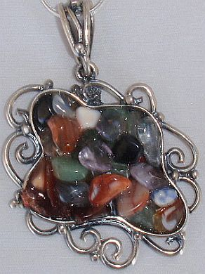 I cut stone pendant