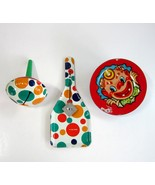 Lot of 3 Vintage Colorful Tin Metal Party Noise Makers Noisemakers - $12.99
