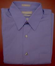 Van Heusen - Purple Fitted Poplin Long Sleeve Shirt - Size 15 - 32-33 - $15.95