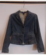Gap Stretch Jean Jacket Womens Size 2 Cotton Sp... - $21.80
