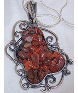 H cut stones pendant - $60.00